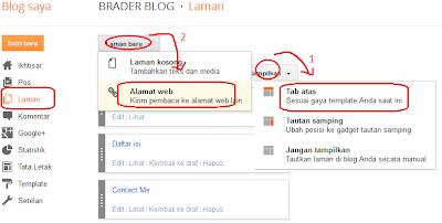 Cara Memasang Label Pada Menu Navigasi Blog