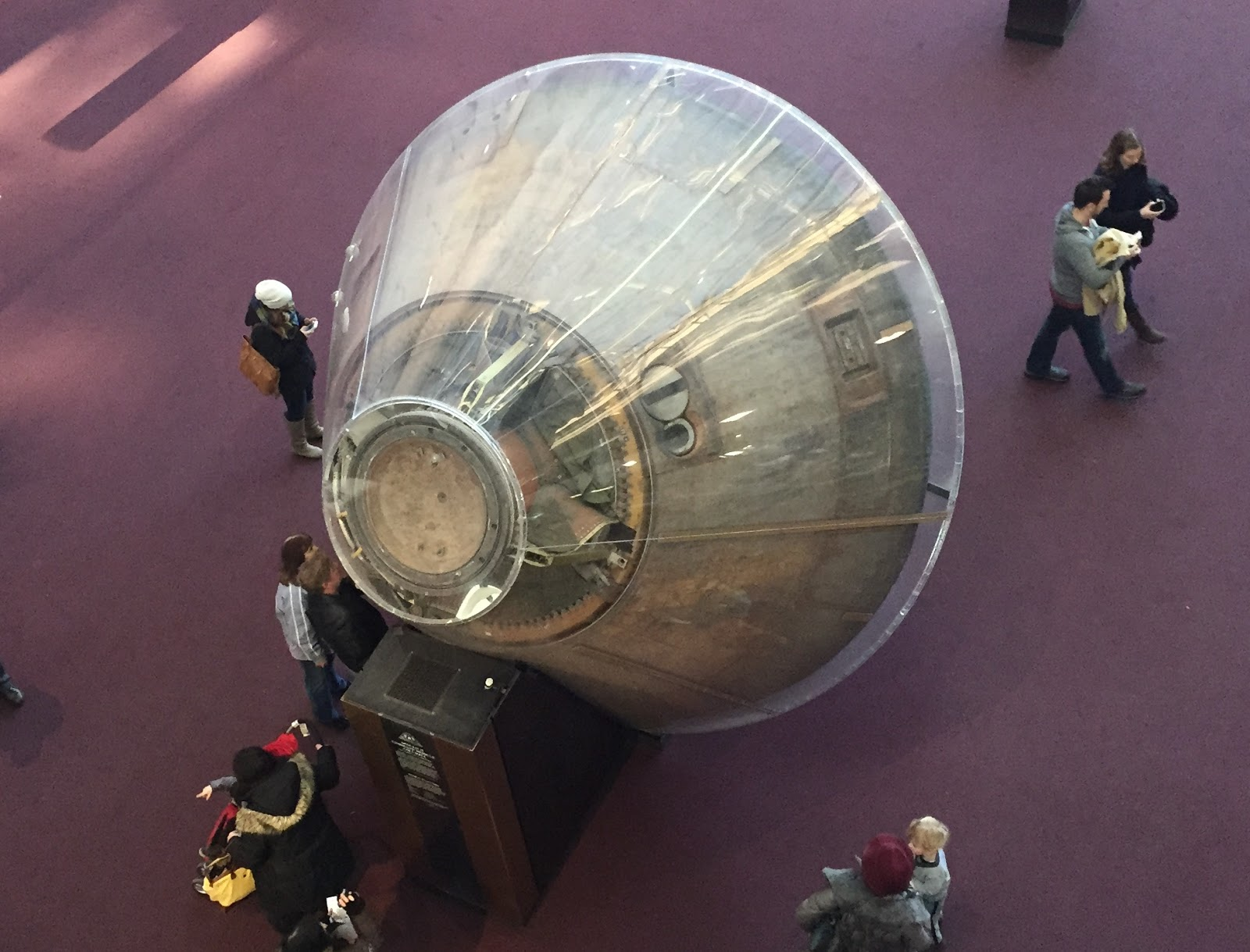 apollo 11 capsule from above
