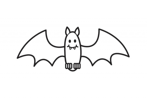 Murciélagos para colorear - Dibujos para Colorear y Pintar Gratis