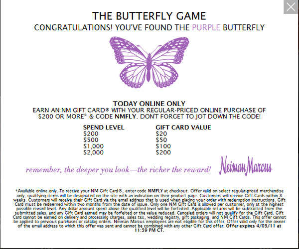 Neiman Marcus : The Butterfly Game