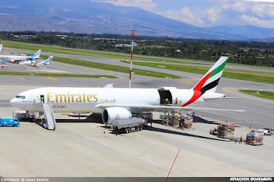 Emirates Cargo Boeing B777 Quito