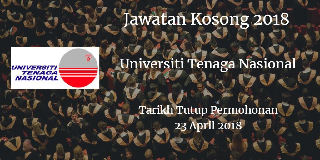 Jawatan Kosong UNITEN 23 April 2018