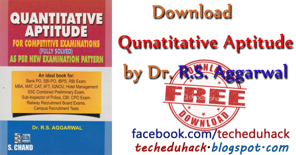 free RS Aggarwal Quantitative aptitude download