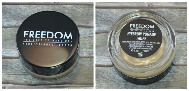 Freedom Make Up eyebrow pomade Taupe