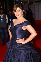 Payal Ghosh aka Harika in Dark Blue Deep Neck Sleeveless Gown at 64th Jio Filmfare Awards South 2017 ~  Exclusive 020.JPG
