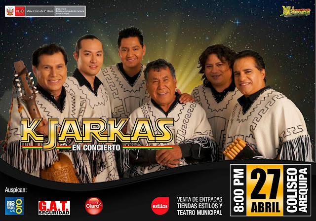 Los kjarkas en Arequipa