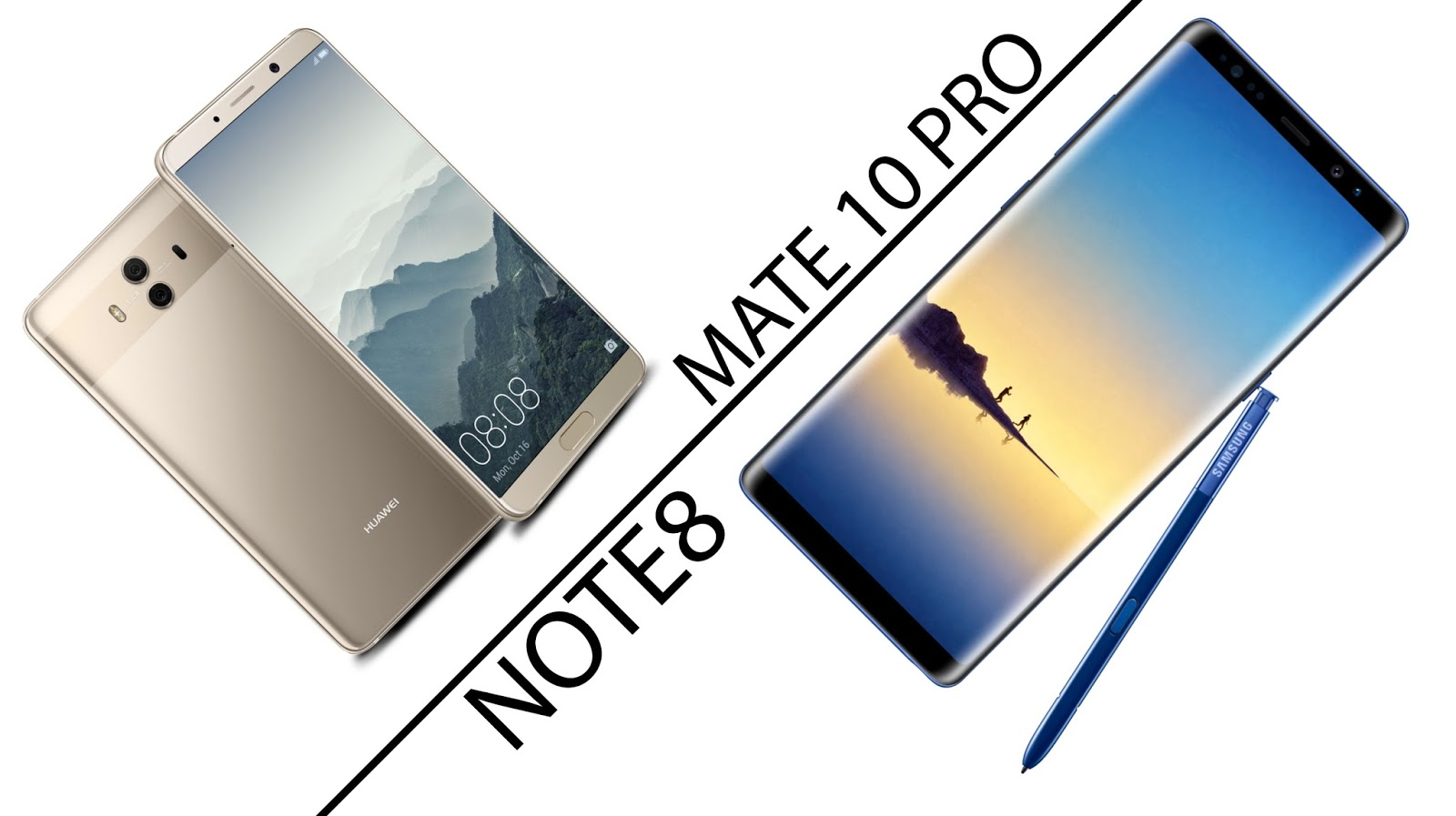 huawei mate 10 pro VS samsung note 8 confronto