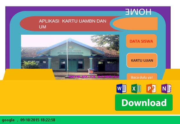 APLIKASI NOUM UAMBN dengan Microsoft Excel - Download