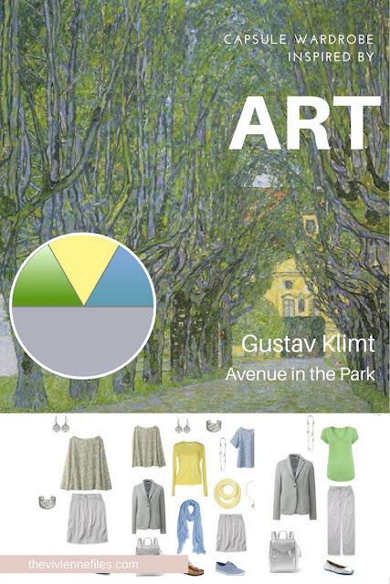 Build a Capsule Wardrobe by Starting with Art: Avenue in the Park by Gustav Klimt