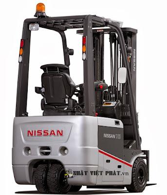 xe nâng điện Nissan ngồi lái sức nâng 3 tấn