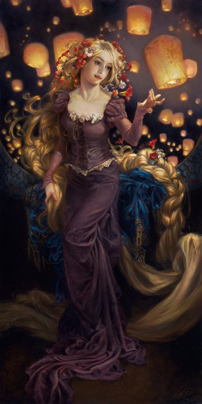 Heather Theurer arte pinturas fantasia religião simbolismo dragões anjos princesas disney