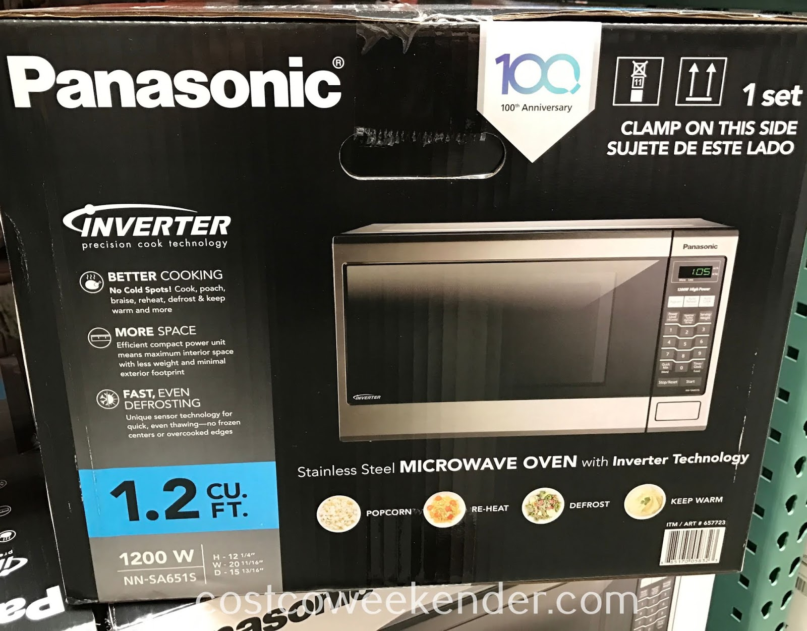 Panasonic Stainless Steel Microwave Oven (NN-SA651S): great for any kitchen