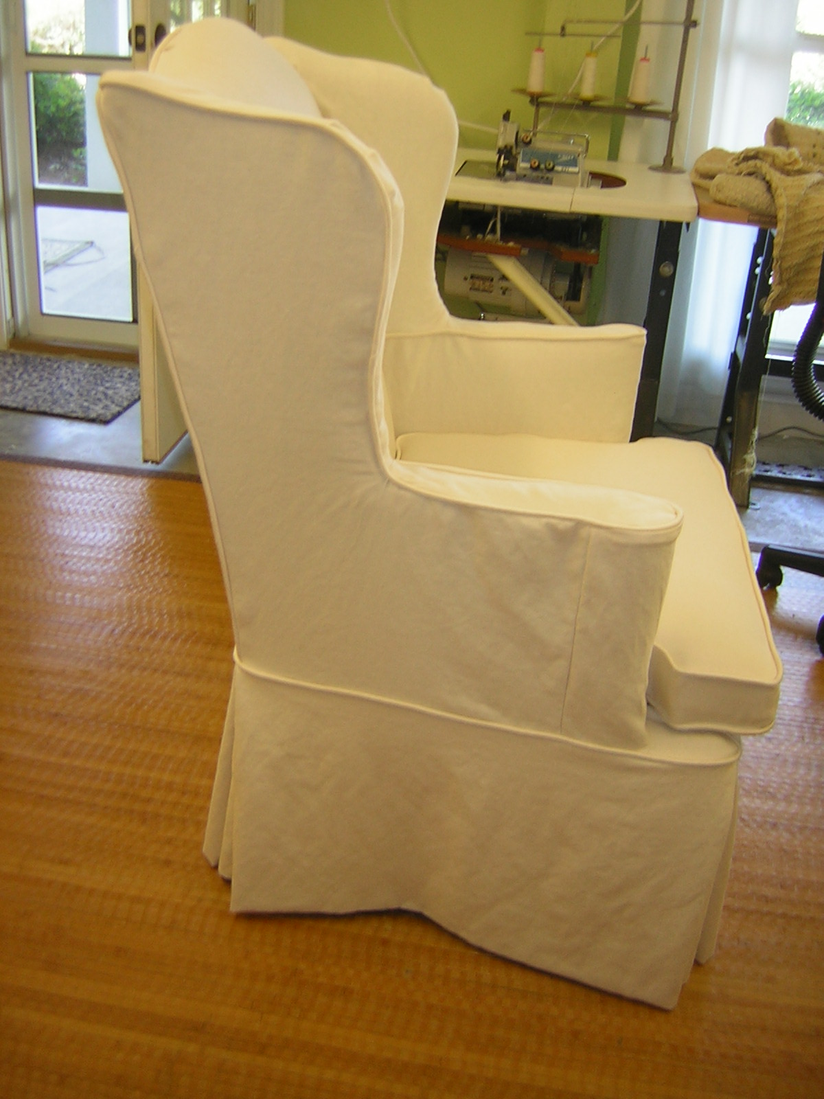 Should I Get Chair Covers For My Wedding Convertible Ottoman Slipcover Chic A Wing And Skirt