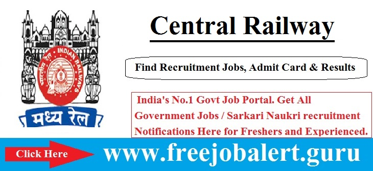 CR Railway, Central Railway, Railway, Railway Scouts and Guides Quota Jobs, RRB Recruitment, Scouts Guides Quota, central railway logo