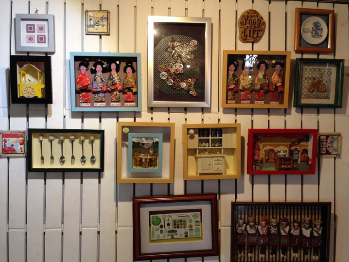 Framed wall decors at Tea Tree Café