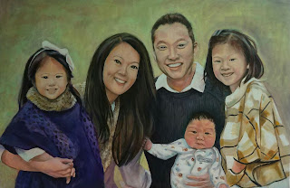 commission painting from photo, custom portrait, Bee Skelton,