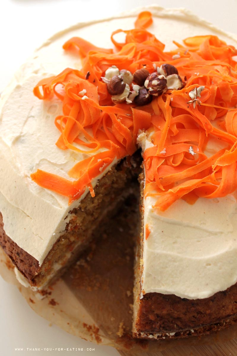 Einfaches Rezept Karotten-Kuchen mit Ingwer