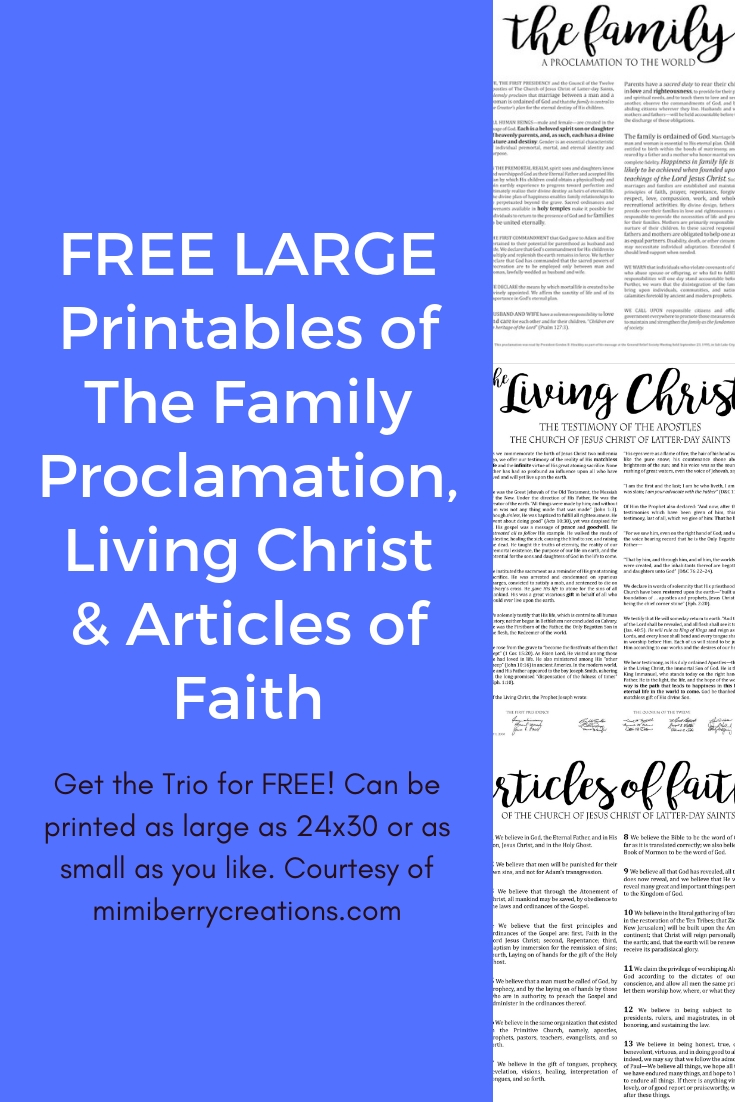 photograph about The Family a Proclamation to the World Free Printable named mimiberry creations: A few Totally free Higher Printables