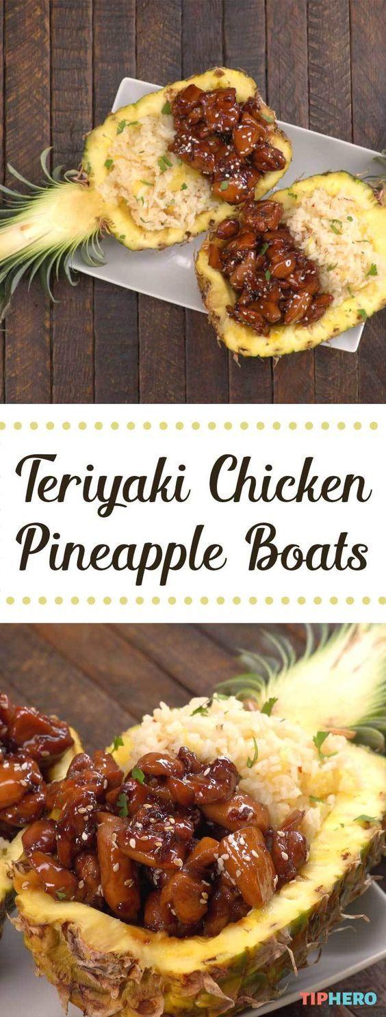 Teriyaki Chicken Pineapple Boats
