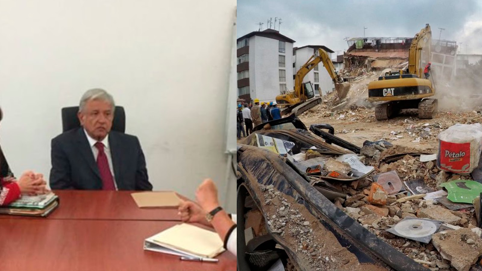AMLO aumenta su donativo del 20% que había dicho al 50% a las víctimas del sismo (VIDEO).
