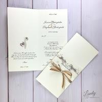 Zaproszenia ślubne Ellegance w kolorze Ecru  Olsztyn