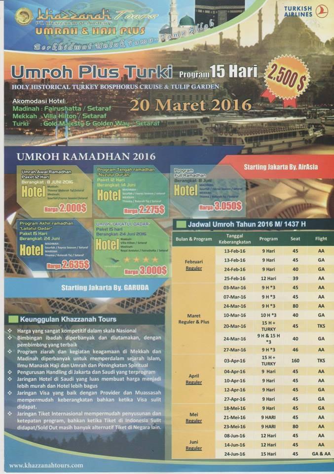 Promo Umroh April 2017 Murah