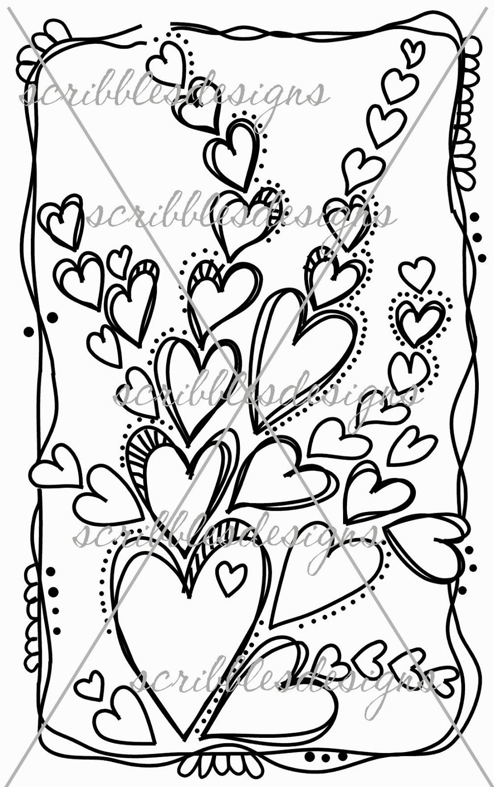 Scribbles Designs: #A 22 Heart Doodle 5 ($3.00)