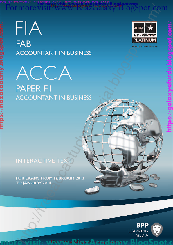 2014-ACCA-F1- ACCOUNTANT IN BUSINESS- INTERACTIVE TEXT by BPP