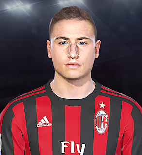 PES 2018 Faces Davide Calabria by Prince Hamiz
