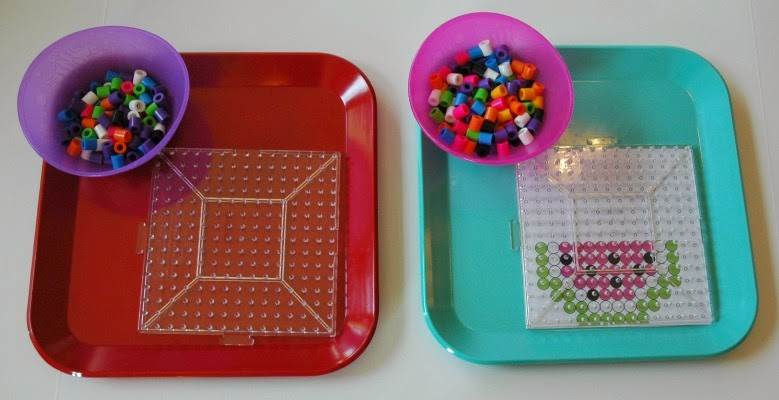 Biggie Beads used for Fruit Theme Preschool