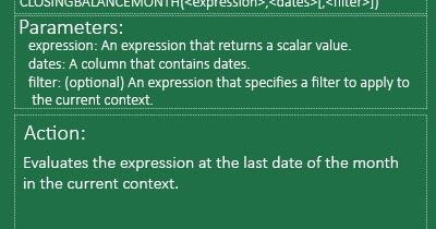 Raj Excel: Excel PowerPivot: CLOSINGBALANCEMONTH Function (DAX)