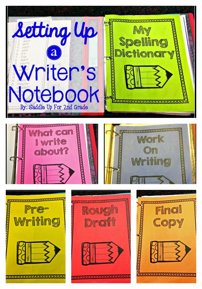 Setting Up a Writer's Notebook - Saddle up for Second Grade