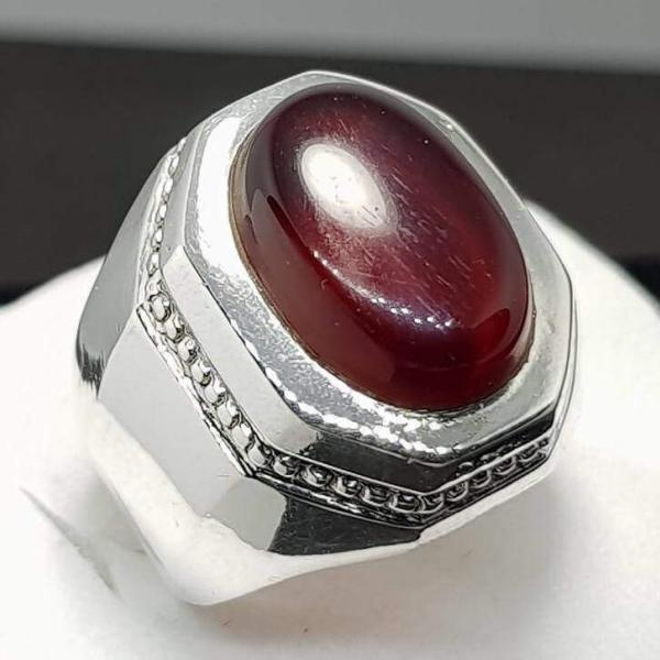 dark red agate ring