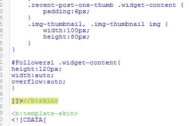 5 Langkah Mudah Membuat atau Memasang Kotak Scroll pada Widget/Gadget Followers Blog