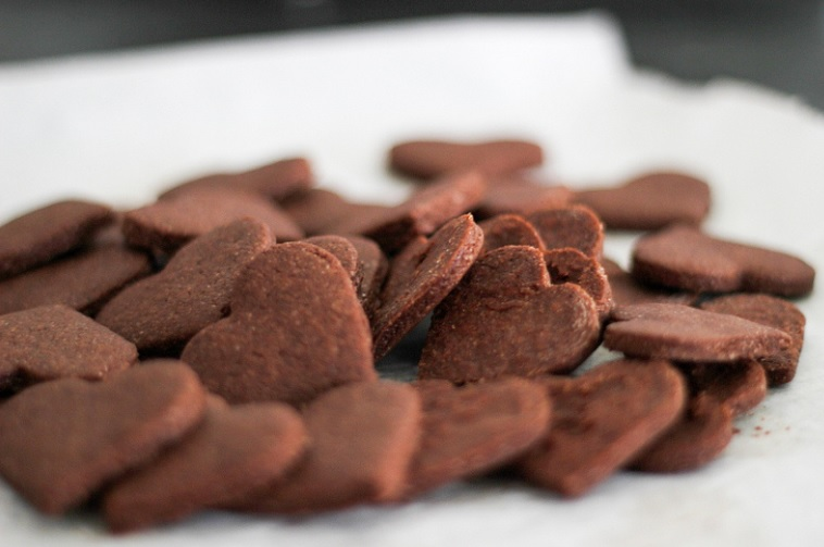 Chocolate Heart I Love You Always Cookies
