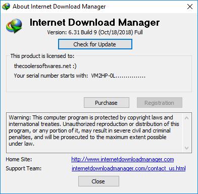 Internet Download Manager IDM 6.31 Build 9 Crack Serial Key License Code Registration Patch