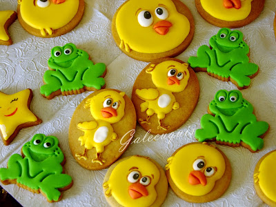 galletas decoradas pollito amarillito