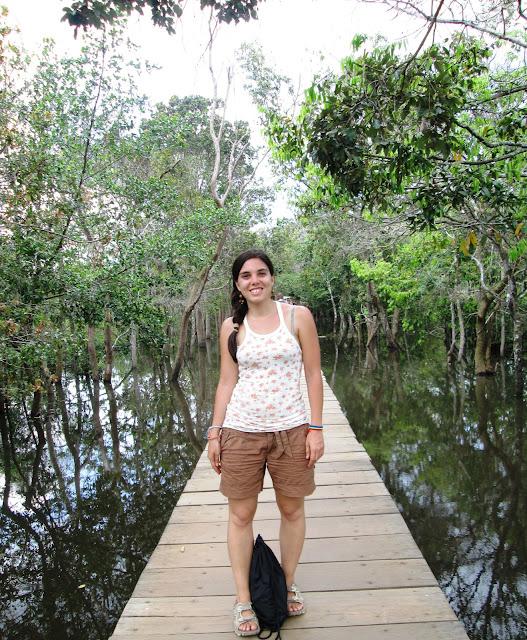 Acceso a Neak Peak en Angkor, Camboya