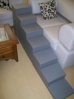escadas 7 degraus para cães