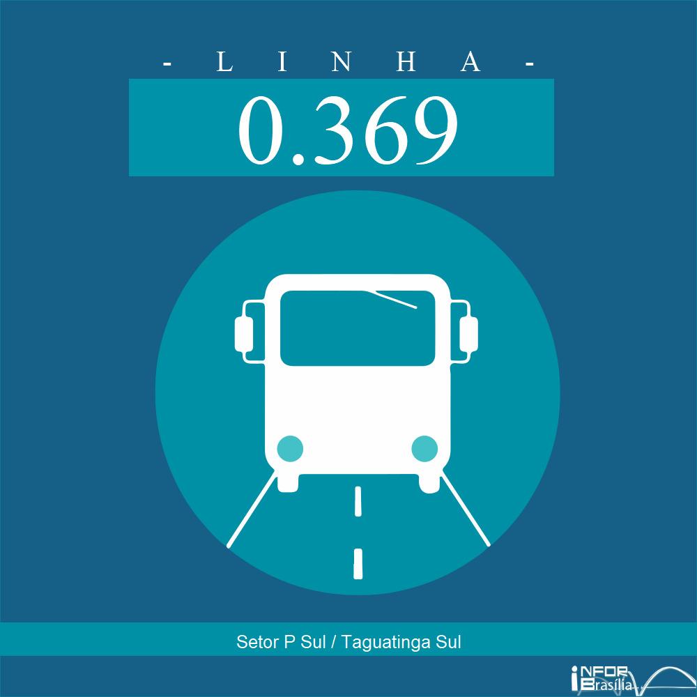 Horário de ônibus e itinerário 0.369 - Setor P Sul / Taguatinga Sul