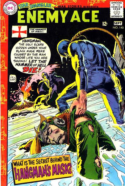 Star Spangled War v1 #140 enemy ace dc comic book cover art by Joe Kubert