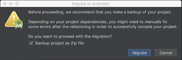 AndroidX proceso de migración ~ popup de confirmación