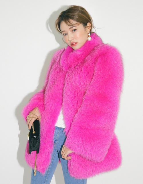 Single Tone Fur Jacket
