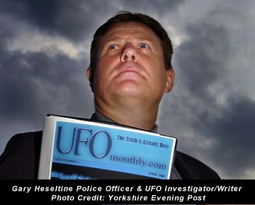 Gary Heseltine from Crofton, police officer and UFO investigator-writer Credit - Yorkshire Evening Post