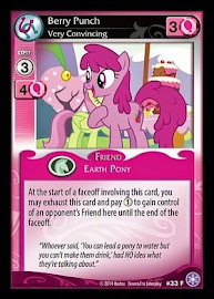 MLP Berry Punch, Very Convincing The Crystal Games CCG Card