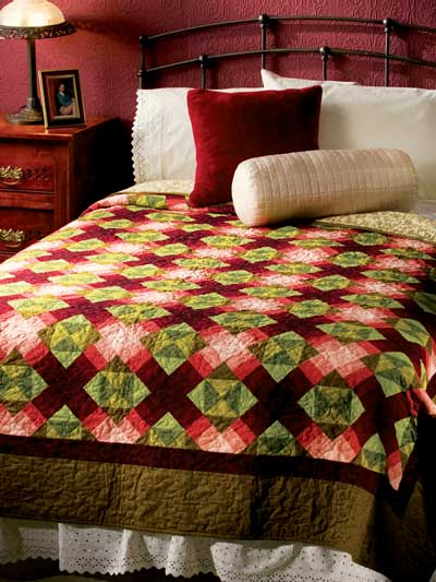 Twisted Wrenches Quilt Free Pattern designed by Cathryn Tallman-Evans of Free Quilting