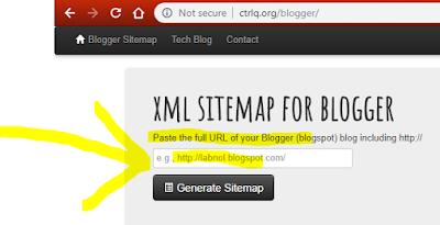 xml sitemap for blogger