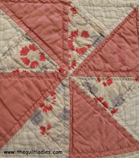 Great, Great Grandmother made a Pin Wheel Quilt