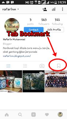 Fitur Bookmark Instagram