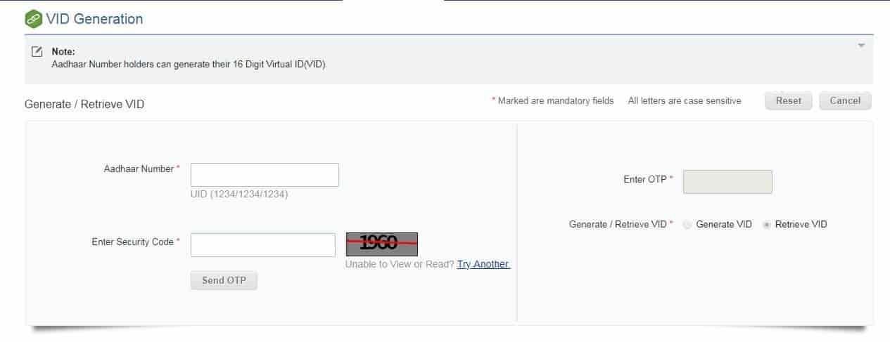 How to Generate Aadhaar Card Virtual Number,